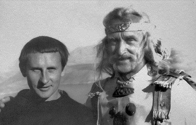 З Василем Симчичем на зйомках фільму Захар Беркут