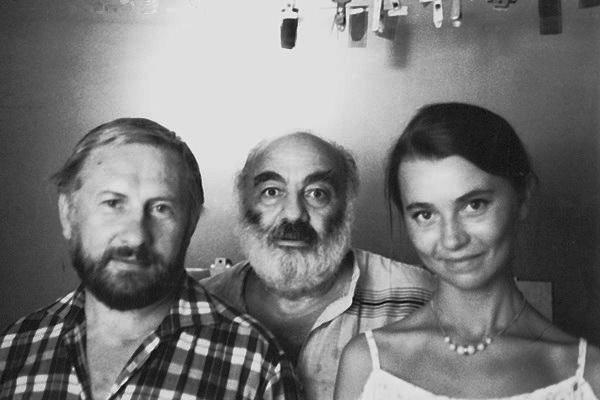 Із Сергієм Параджановим та дружиною Свтіланою