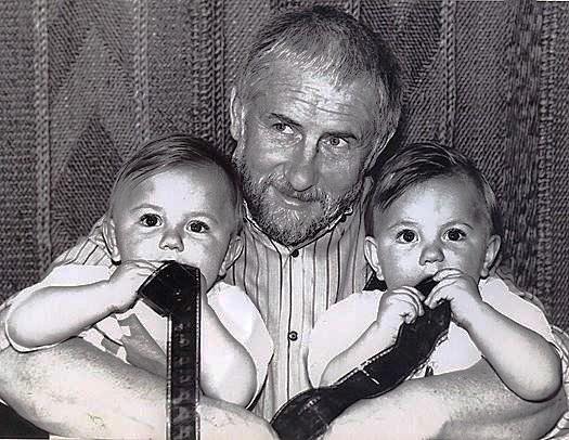 Із синами Олексієм і Богданом