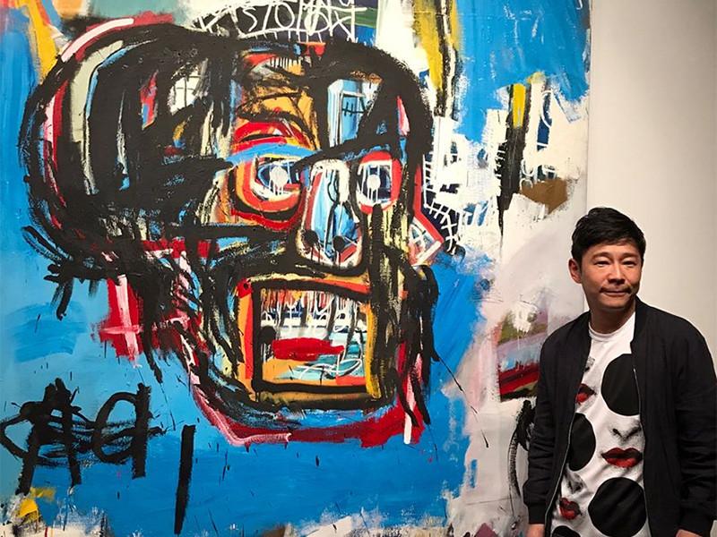Безіменна картина американського графіті-художника Жана-Мішеля Баскія, котру Юсаку Маезава придбав на аукціоні за 110,5 млн доларів