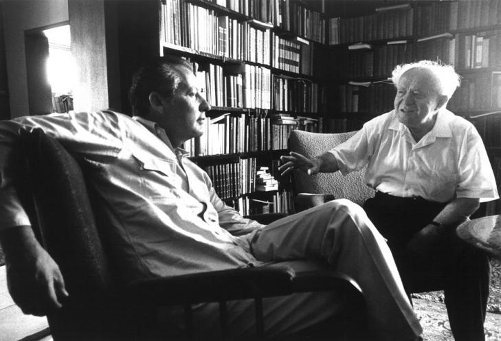Аксель Шпрингер и Давид Бен Гурион. Июль 1966, Израиль. Фото с сайта os.colta.ru