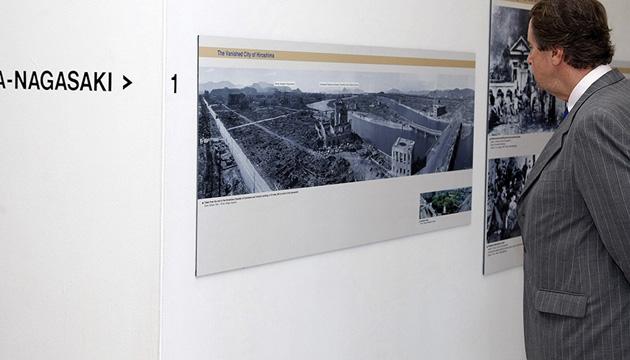 Выставка «Против ядерного оружия». Фото с сайта ООН