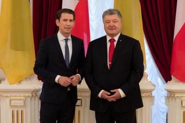 波罗申科宣布奥地利官方对乌克兰给予了强有力的支持