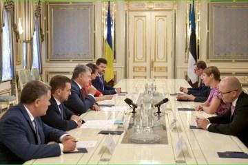 Presidentes de Ucrania y Estonia discuten los pasos para liberar a los presos políticos del Kremlin