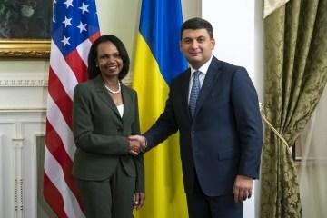 Grosyman cuenta a Condoleezza Rice los cambios en Ucrania