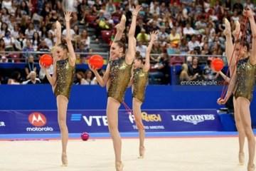 乌克兰姑娘们在保加利亚艺术体操世锦赛夺得铜牌