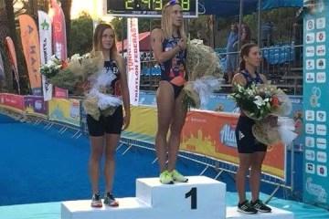 Triatlón: Yelistratova, ganadora de la Copa de Europa en Turquía (Vídeo)