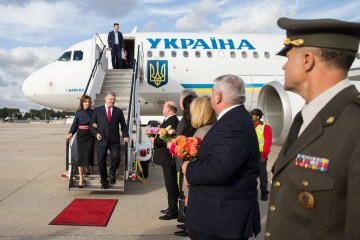 Ukrainian president arrives in New York