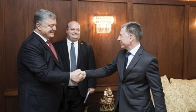 Treffen von Poroschenko und Volker