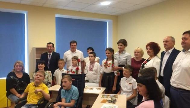 Maryna Poroshenko opens new resource center for inclusive education in Kyiv region