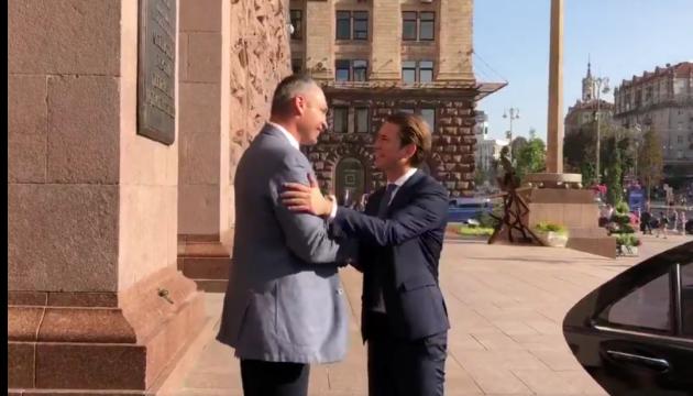 Spaziergang von Klitschko und Kurz in Kiew – Video