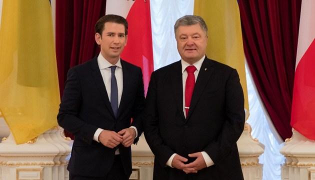 Poroshenko: Austria muestra ser un socio confiable