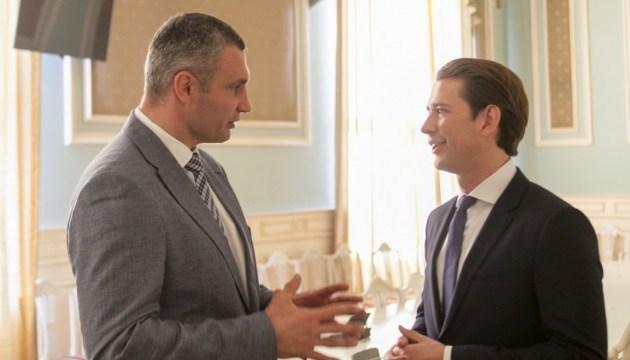 Kyiv mayor Klitschko asks Austrian chancellor Kurz to assist in releasing Kremlin's prisoners