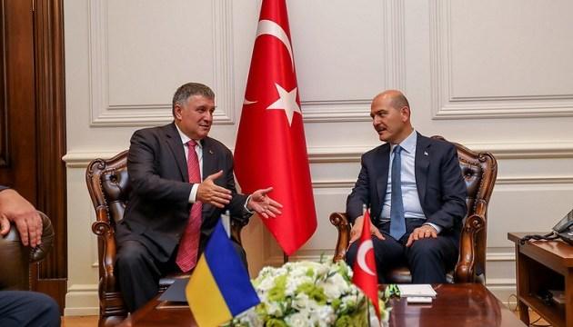 Аваков подякував главі МВС Туреччини за принципову позицію щодо Криму