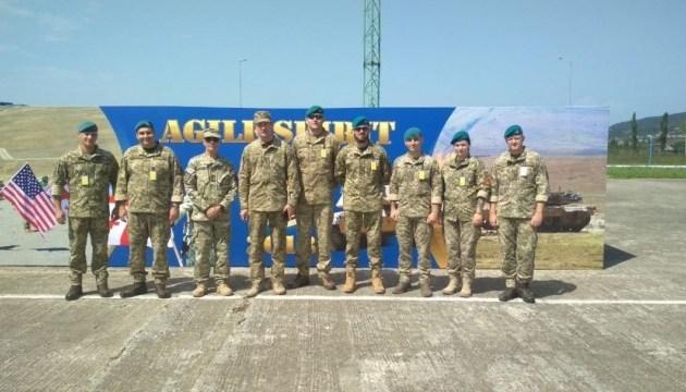 """乌克兰海军陆战队参加在格鲁吉亚举行的""""敏捷精神""""军演"""