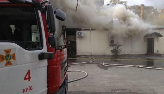 Пожар в ресторане на Лукьяновке ликвидировали