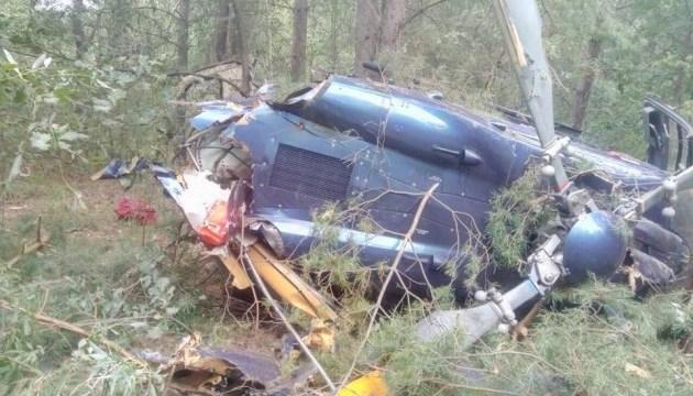 В Киеве на Трухановом острове упал вертолет, двое пострадавших