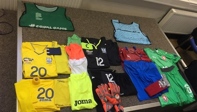 На старте Лиги наций УЕФА украинцы будут играть в желтой форме, чехи – в красно-синей