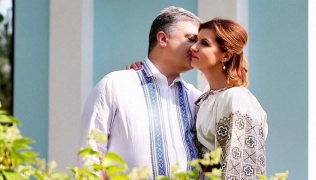 乌克兰第一夫人向总统祝贺生日