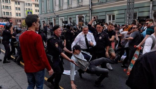 В Москве полиция избила участников
