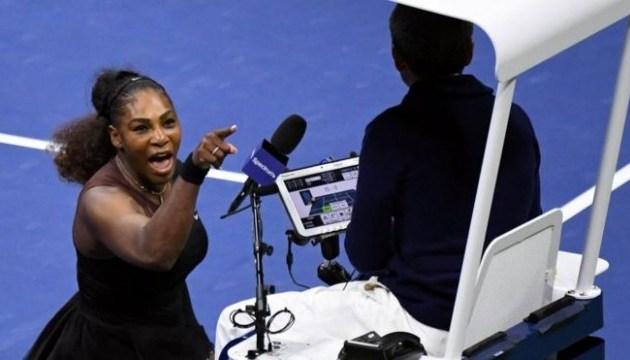 Серену Уильямс оштрафовали на $17 тысяч за скандал в финале US Open