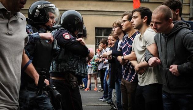Петербург очолив ТОП-10 міст Росії, де пройшло найбільше протестів