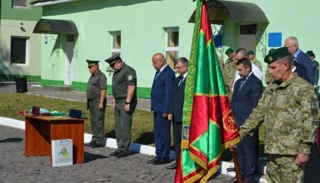 Мукачевскому пограничному отряду вручили ленту к боевому знамени