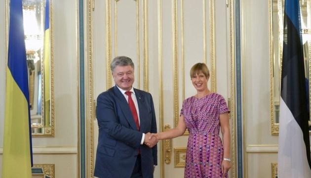 Poroshenko se reúne con la presidenta de Estonia (Foto)