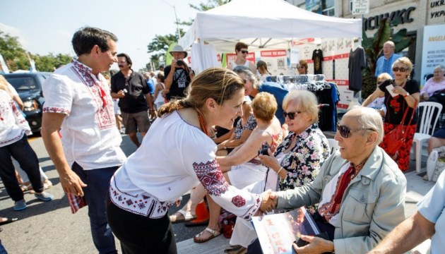 Freeland, Trudeau visit Bloor West Village Toronto Ukrainian Festival. Photos