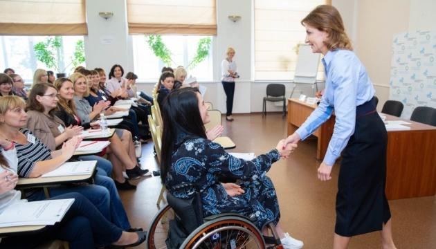 Марина Порошенко поздравила в Ирпене участников тренинга по инклюзивному образованию