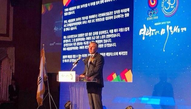 Сергій Бубка взяв участь у святкуванні 30-річчя Олімпійських ігор у Сеулі