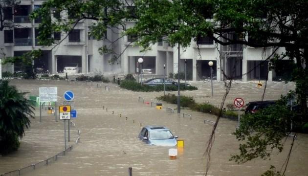 В Китае ураган