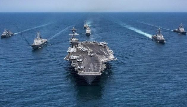 В Средиземное море вошла авианосная группа ВМС США