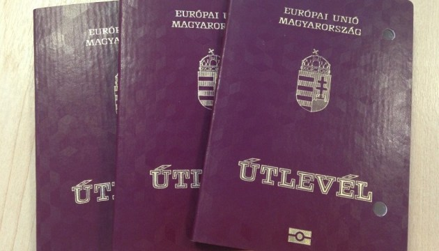 Ukrainians receiving Hungarian passports in Zakarpattia region