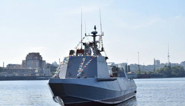 В Киеве спустили на воду второй десантно-штурмовой катер