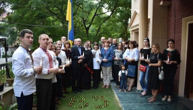Українці Катару та Індії запалили