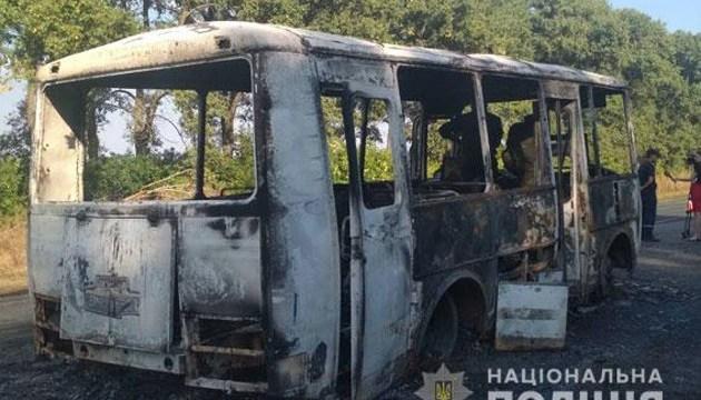 На Сумщине во время движения загорелся автобус с детьми