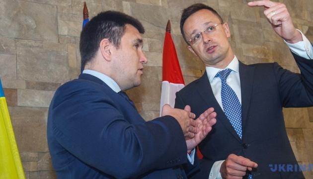Klimkin se reunirá con Szijjártó en Varsovia: Diálogo se mantiene, aunque es complejo