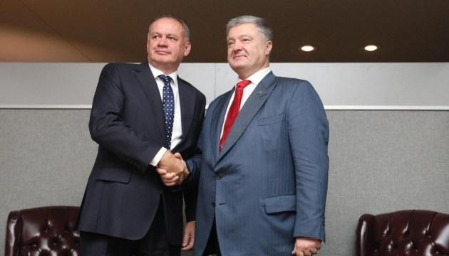 Ukrainian, Slovak presidents discuss trade, security, EU integration