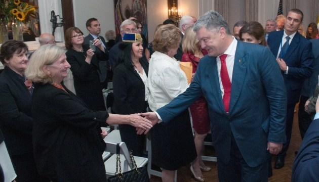 Poroshenko meets with Ukrainian community in U.S.