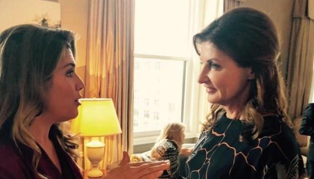Марина Порошенко зустрілася з дружиною Трюдо у Нью-Йорку