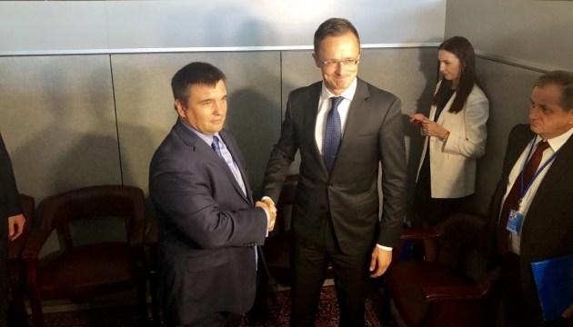 Klimkin y Szijjártó se encuentran en la sede de la ONU