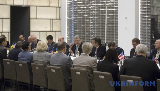 Poroshenko meets with U.S. business representatives in New York