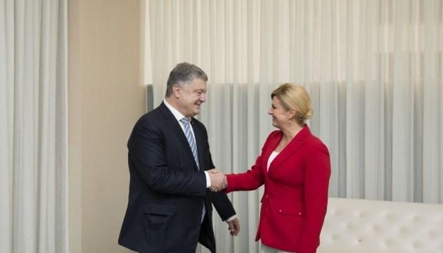 Порошенко обсудил с президентом Хорватии вопросы энергетической безопасности
