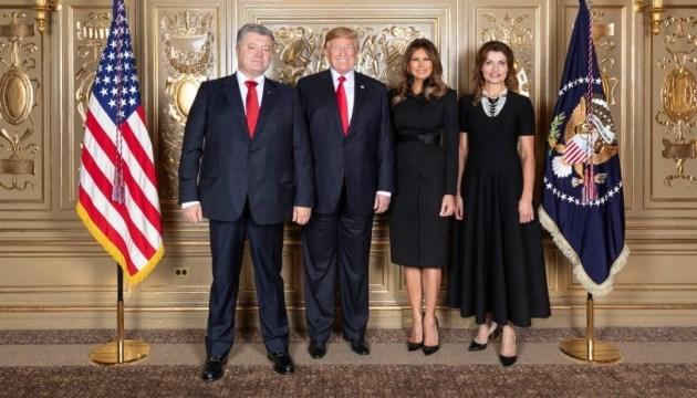 Poroshenko meets with Trump in New York