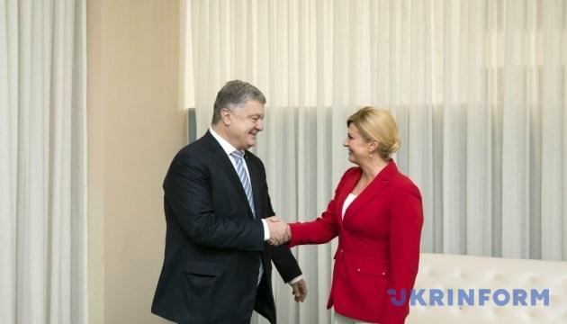 Ukrainian, Croatian presidents discuss energy security