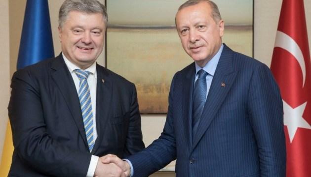 Poroshenko, Erdogan discuss free trade, prisoners, occupation of Crimea