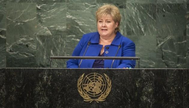Суверенитет Украины должен быть восстановлен - премьер Норвегии