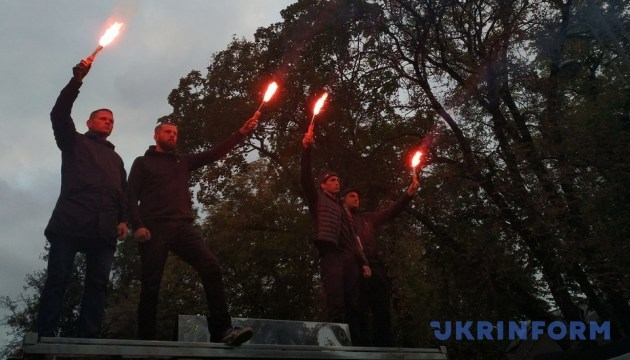 «La nuit sur la Bankova»: les activistes manifestent devant le Bureau présidentiel à Kyiv (photos, vidéo)