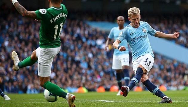 АПЛ: «Манчестер Сити» обыграл «Брайтон», Зинченко впервые сыграл полный матч